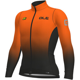 Alé Cycling PRS Dots DWR Longsleeve Jersey Men black-fluo orange